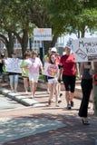 Protesta mondiale contro Monsanto ed i GMOs Fotografia Stock Libera da Diritti