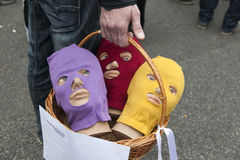 Protesta a Mosca il 15 settembre 2012 Immagini Stock Libere da Diritti