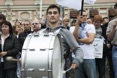 Protesta a Mosca il 15 settembre 2012 Immagine Stock Libera da Diritti
