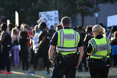 Protesta negra de la materia de las vidas, Charleston, SC Imagen de archivo libre de regalías