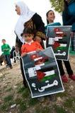 Protesta nel Palestine Fotografia Stock