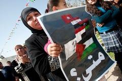 Protesta nel Palestine Fotografie Stock Libere da Diritti