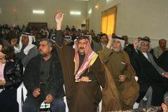 Protesta nell'Iraq fotografia stock libera da diritti