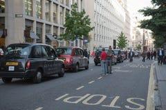 Protesta nera della carrozza Fotografia Stock Libera da Diritti