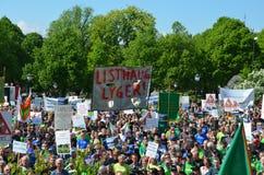 Protesta norvegese degli agricoltori Fotografia Stock Libera da Diritti
