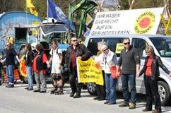Protesta nuclear anti Alemania 2010 Fotos de archivo libres de regalías