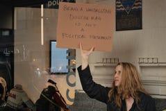Protesta olimpica Fotografie Stock