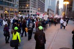 Protesta pacifista Foto de archivo libre de regalías