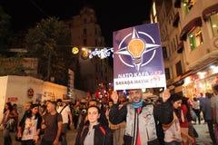 Protesta pacifista Fotografía de archivo