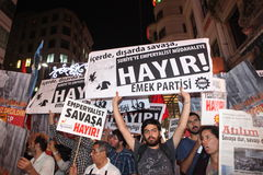 Protesta pacifista Immagine Stock Libera da Diritti