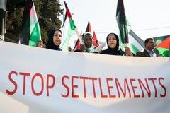 Protesta palestinese Fotografia Stock