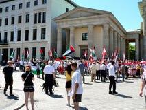 Protesta palestinese a Berlino Fotografia Stock Libera da Diritti