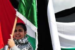 Protesta palestinese della gente Fotografie Stock