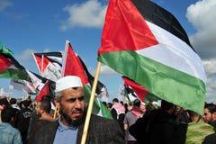 Protesta palestinese della gente Fotografia Stock