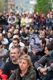 Protesta para el desparition de Jon Anza Imagenes de archivo