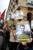 Protesta para el desparition de Jon Anza Fotografía de archivo libre de regalías