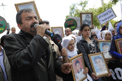 Protesta para la masacre de Uludere Foto de archivo libre de regalías