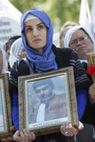 Protesta para la masacre de Uludere Imágenes de archivo libres de regalías