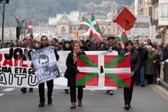 Protesta para la muerte de Jon Anza Imágenes de archivo libres de regalías