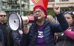 protesta pensionata Immagini Stock Libere da Diritti