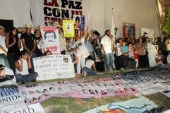 Protesta per pace Immagine Stock