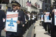 Protesta pilota Fotografie Stock Libere da Diritti