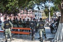Protesta popolare il giorno dell'indipendenza del Brasile Fotografie Stock