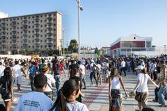 Protesta popular en el día de la independencia del Brasil Imagen de archivo libre de regalías