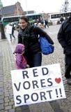 PROTESTA POR DEPORTES DEL CABALLO Fotos de archivo