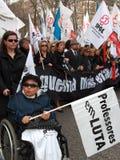 Protesta portuguesa de los profesores Imagen de archivo libre de regalías