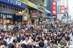 Protesta pro-democrazia in Hong Kong 2014 Fotografia Stock Libera da Diritti