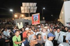 Protesta que entra de Javier Sicilia del activista Imagen de archivo libre de regalías