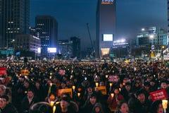 Protesta que se sienta Imagen de archivo