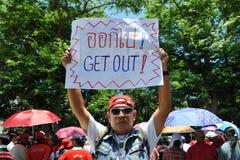 Protesta roja de la camisa Fotografía de archivo