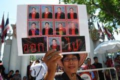 Protesta roja de la camisa Imagen de archivo