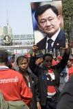 Protesta roja de la camisa - Bangkok Imagenes de archivo