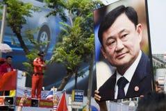Protesta rossa della camicia - Bangkok fotografia stock