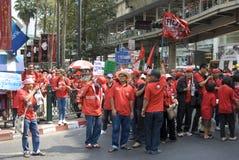Protesta rossa della camicia - Bangkok immagini stock libere da diritti