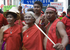 Protesta rossa della camicia - Bangkok fotografie stock