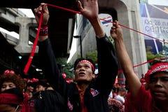 Protesta rossa delle camice a Bangkok immagine stock libera da diritti