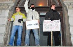 Protesta rumana 19/01/2012 - 13 Foto de archivo libre de regalías