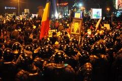 Protesta rumana 19/01/2012 - 5 Imagen de archivo libre de regalías