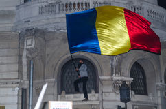 Protesta rumana 04/11/2015 Foto de archivo