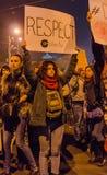 Protesta rumana 05/11/2015 Imagen de archivo