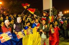 Protesta rumana 05/11/2015 Imágenes de archivo libres de regalías