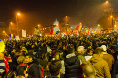Protesta rumana 05/11/2015 Fotografía de archivo