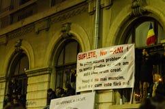 Protesta rumana 05/11/2015 Fotos de archivo