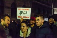 Protesta rumana 09/11/2015 Fotos de archivo