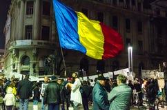 Protesta rumana 09/11/2015 Imagen de archivo