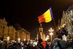 Protesta rumana para la democracia Imágenes de archivo libres de regalías